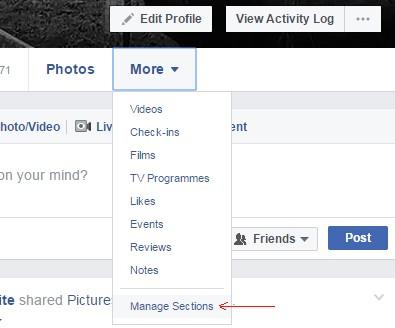 manage facebook settings