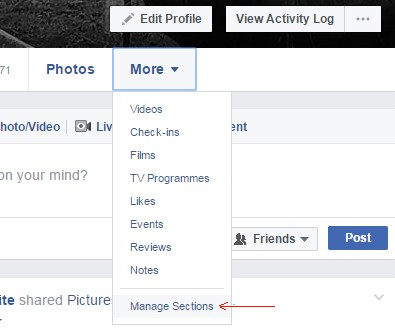 manage facebook settings